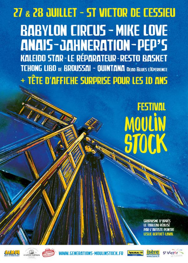 Affiche Festival Moulinstock 2018